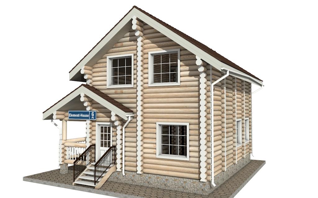 Фото #4: Красивый деревянный дом РС-6 из бревна