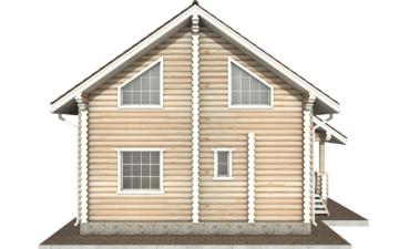 Фото #8: Красивый деревянный дом РС-64 из бревна