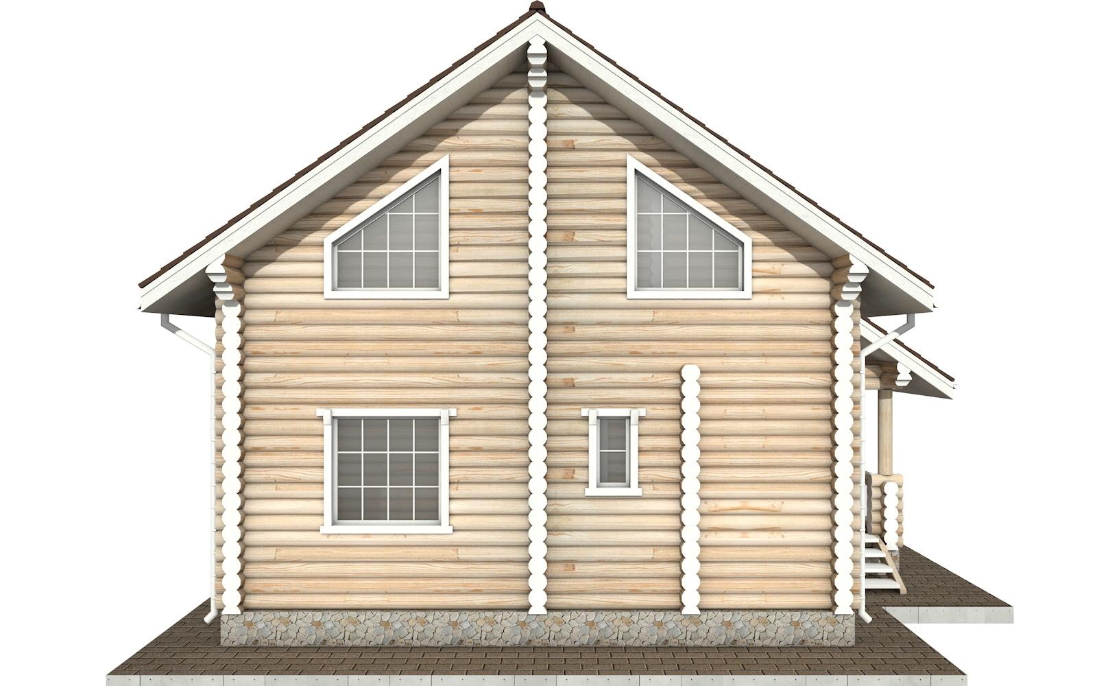Фото #7: Красивый деревянный дом РС-64 из бревна