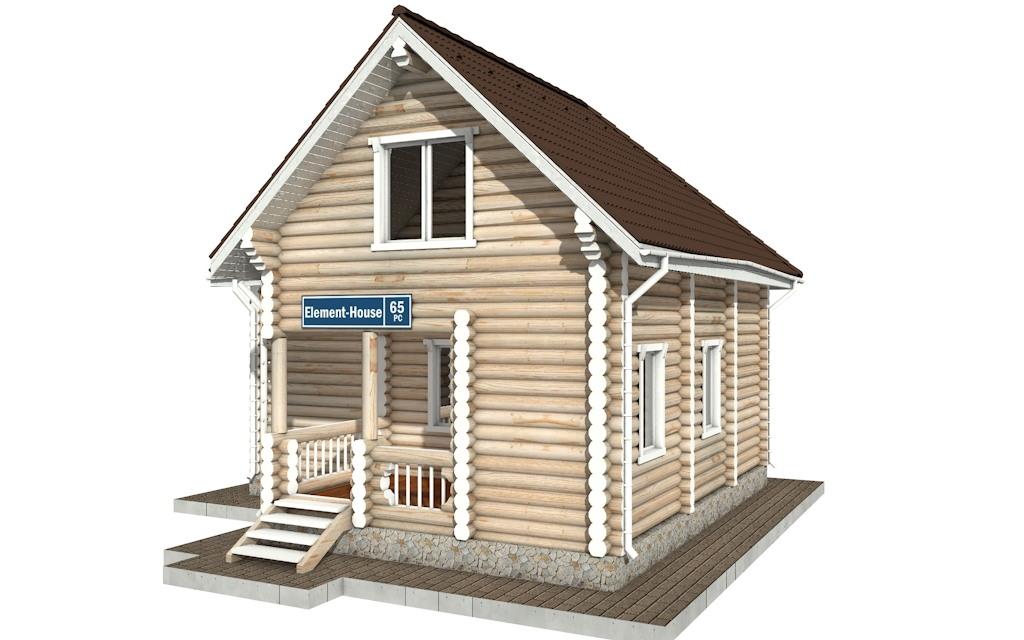 Фото #4: Красивый деревянный дом РС-65 из бревна