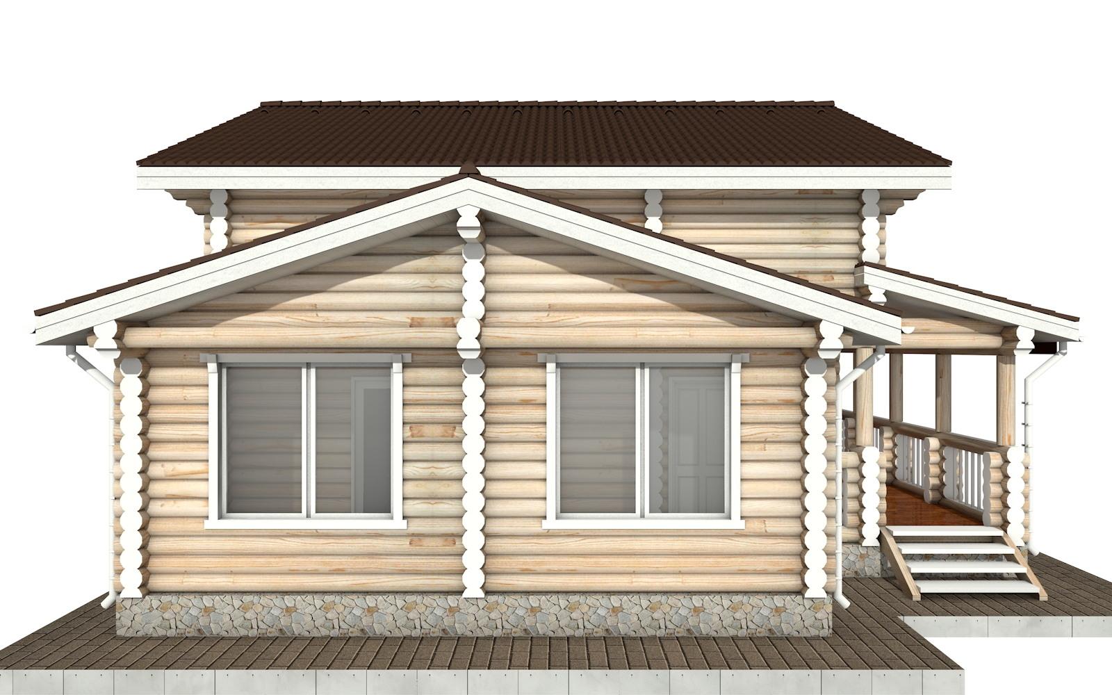 Фото #7: Красивый деревянный дом РС-66 из бревна