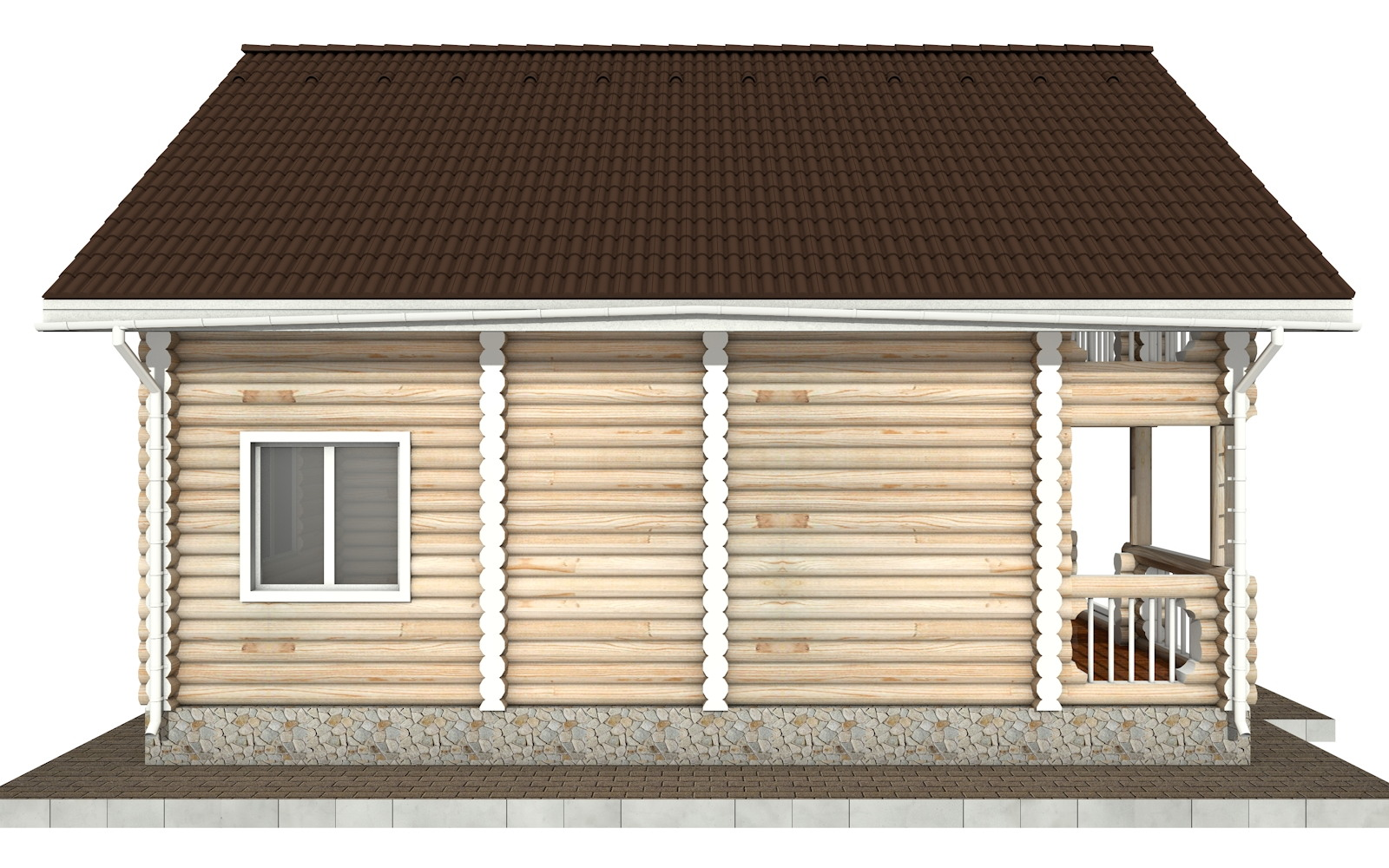 Фото #7: Красивый деревянный дом РС-67 из бревна