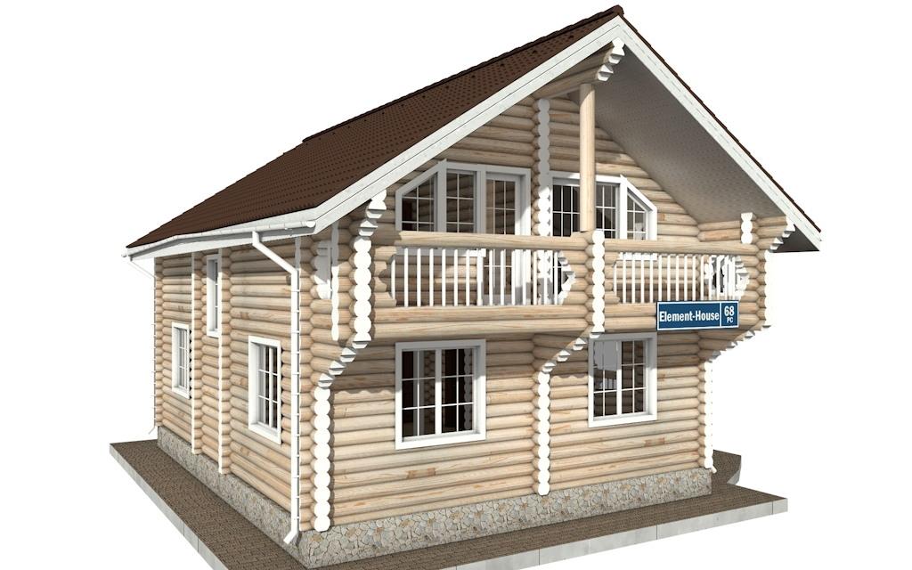 Фото #4: Красивый деревянный дом РС-68 из бревна