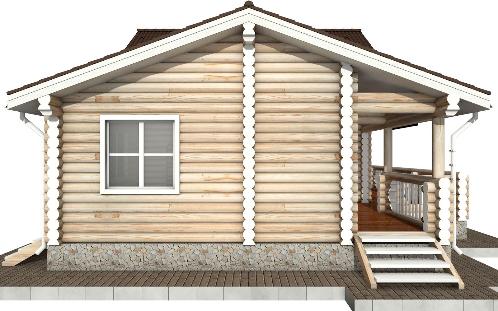 Фото #7: Красивый деревянный дом РС-69 из бревна