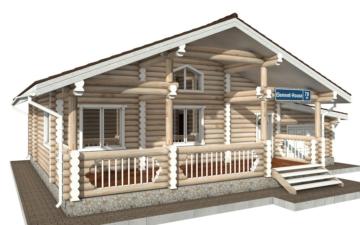 Фото #5: Красивый деревянный дом РС-70 из бревна