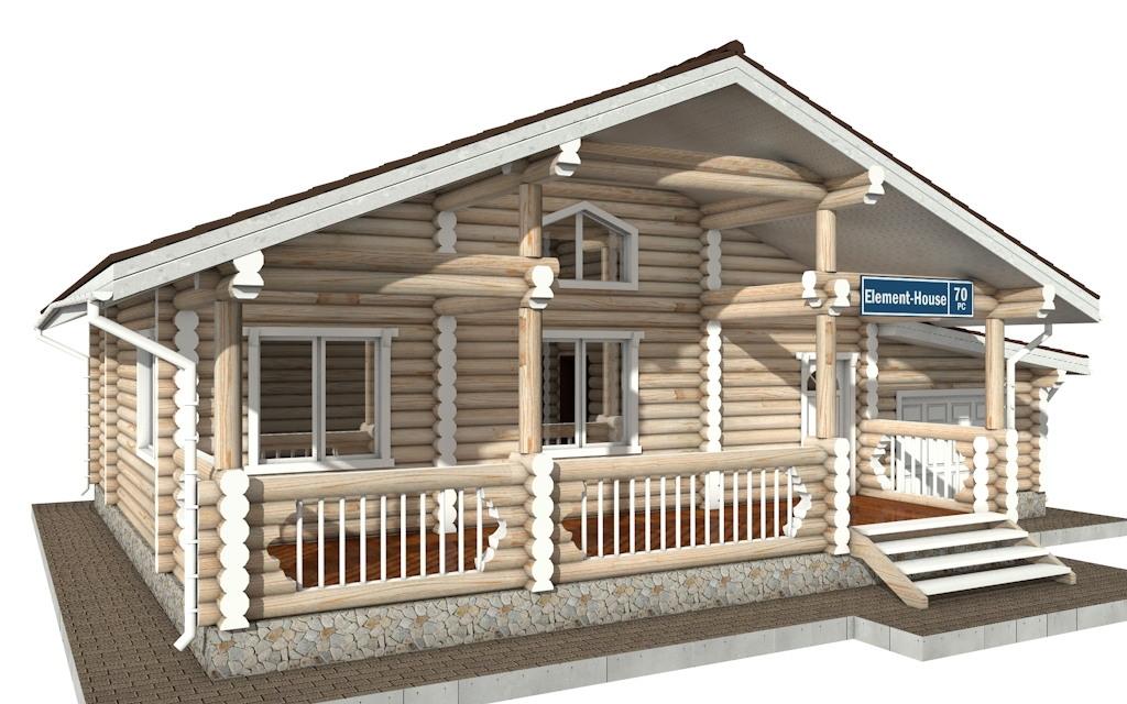 Фото #3: Красивый деревянный дом РС-70 из бревна