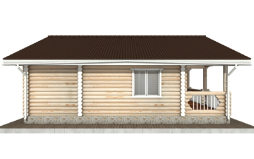 Фото #8: Красивый деревянный дом РС-70 из бревна