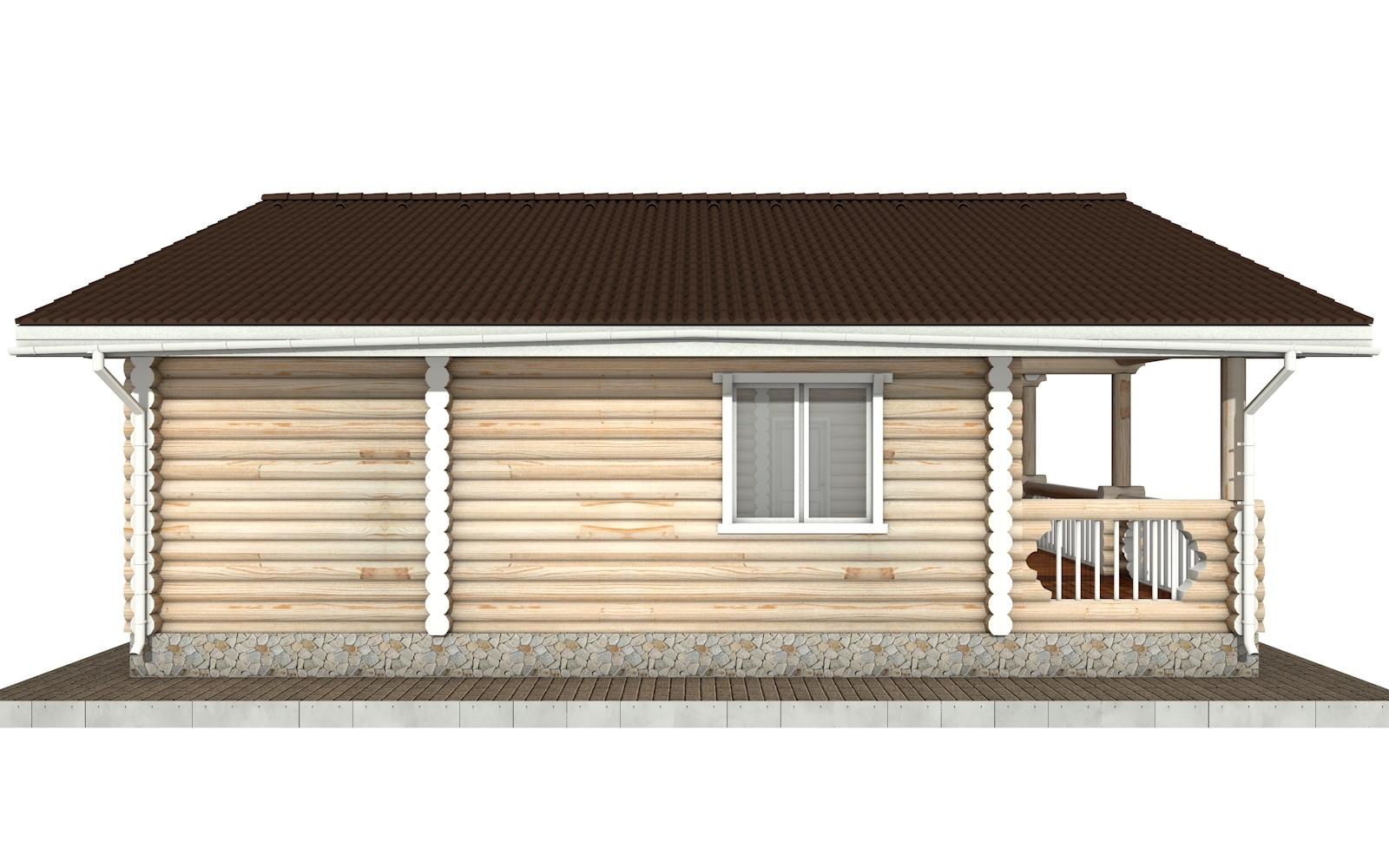 Фото #6: Красивый деревянный дом РС-70 из бревна