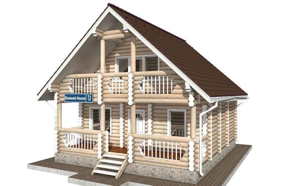 Фото #4: Красивый деревянный дом РС-71 из бревна
