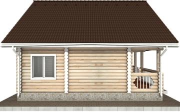 Фото #8: Красивый деревянный дом РС-71 из бревна