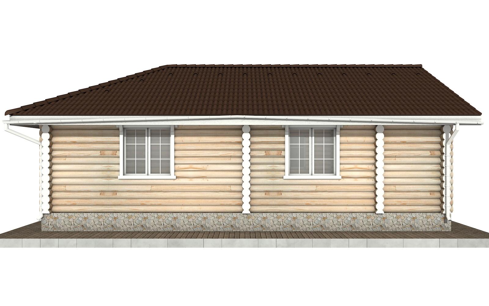 Фото #6: Красивый деревянный дом РС-72 из бревна