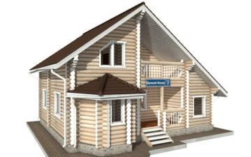 Фото #2: Красивый деревянный дом РС-73 из бревна