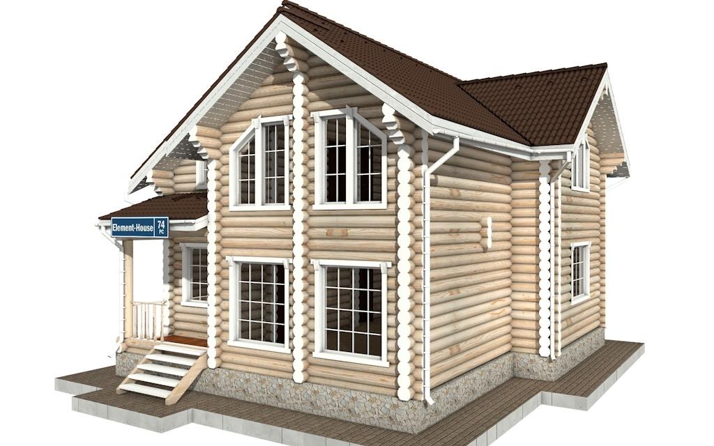 Фото #4: Красивый деревянный дом РС-74 из бревна