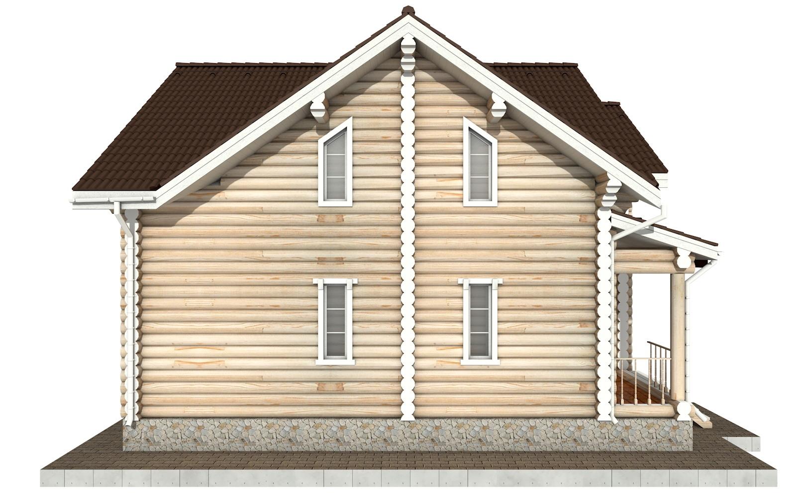 Фото #7: Красивый деревянный дом РС-74 из бревна