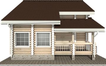Фото #8: Красивый деревянный дом РС-6 из бревна