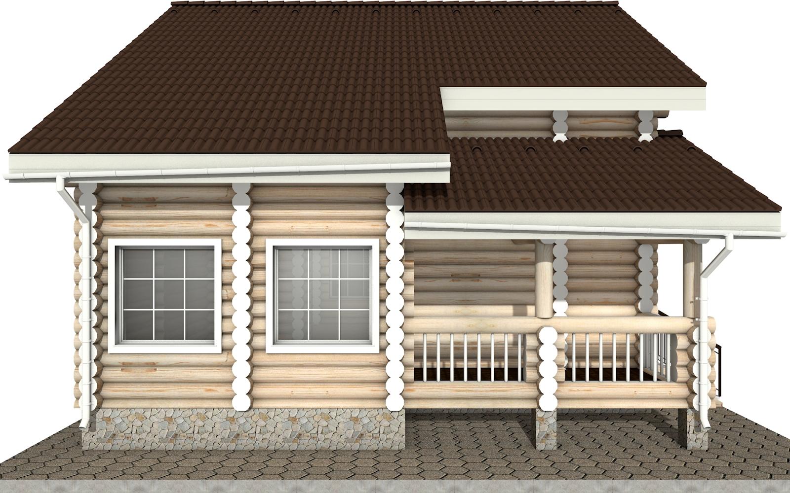 Фото #7: Красивый деревянный дом РС-6 из бревна