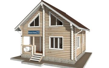 Фото #2: Красивый деревянный дом РС-75 из бревна