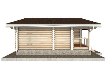 Фото #8: Красивый деревянный дом РС-76 из бревна