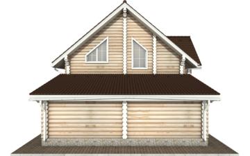 Фото #8: Красивый деревянный дом РС-78 из бревна