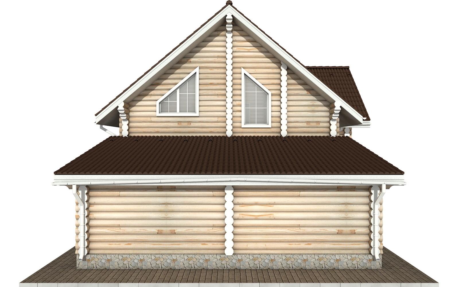 Фото #7: Красивый деревянный дом РС-78 из бревна