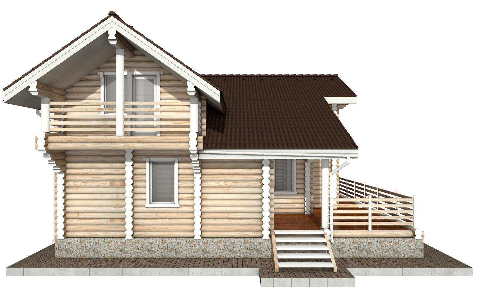 Фото #7: Красивый деревянный дом РС-79 из бревна