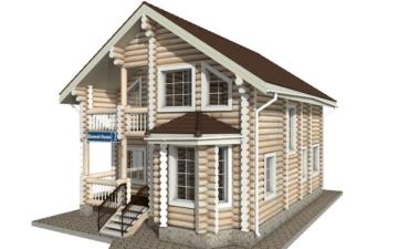 Фото #2: Красивый деревянный дом РС-7 из бревна