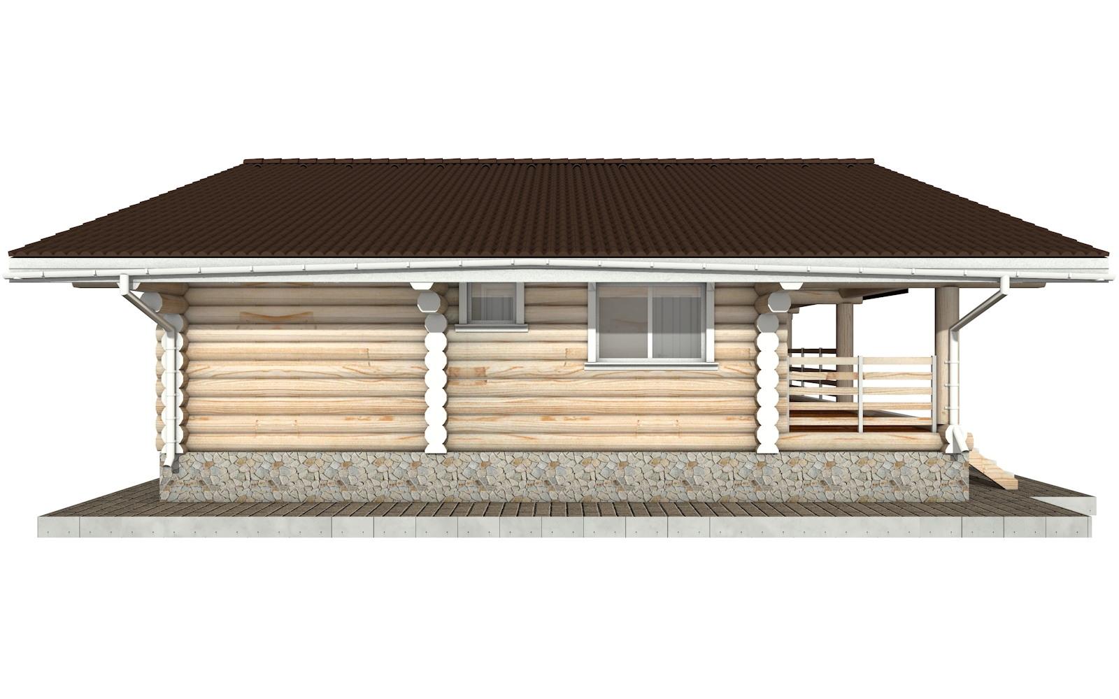 Фото #6: Красивый деревянный дом РС-80 из бревна