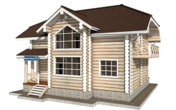 Фото #2: Красивый деревянный дом РС-81 из бревна