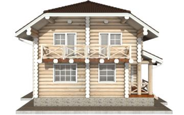 Фото #8: Красивый деревянный дом РС-81 из бревна