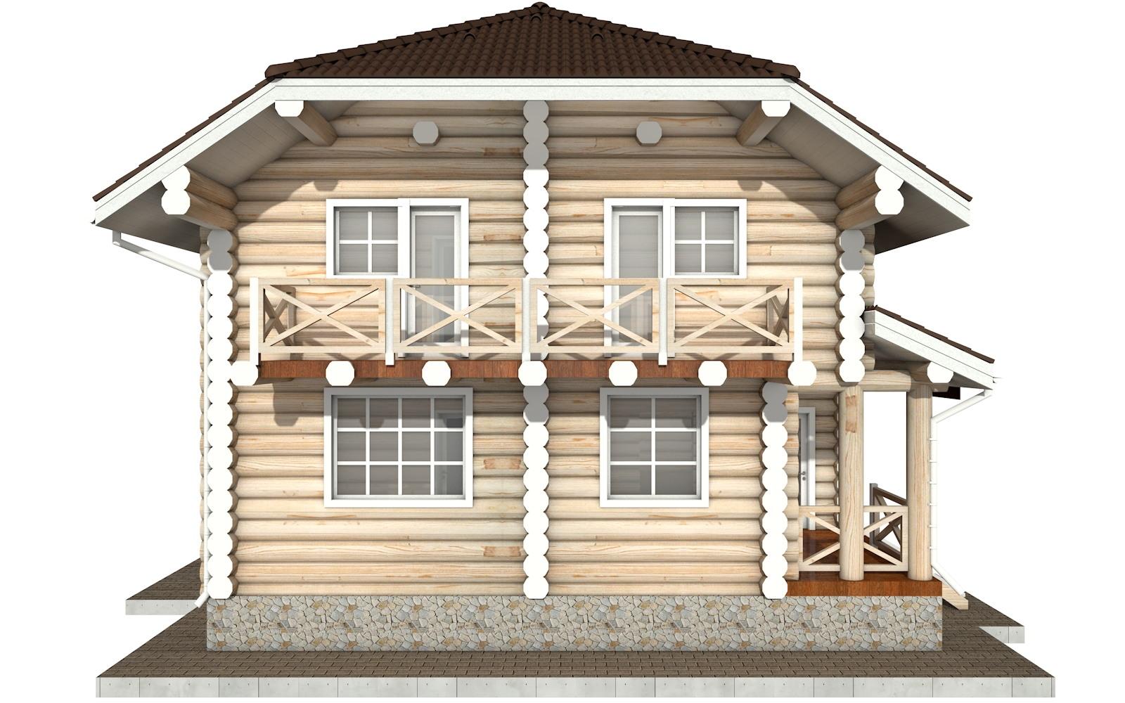 Фото #7: Красивый деревянный дом РС-81 из бревна