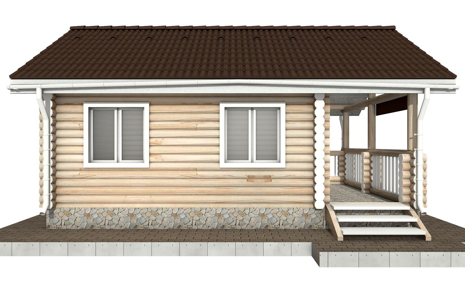 Фото #6: Красивый деревянный дом РС-82 из бревна