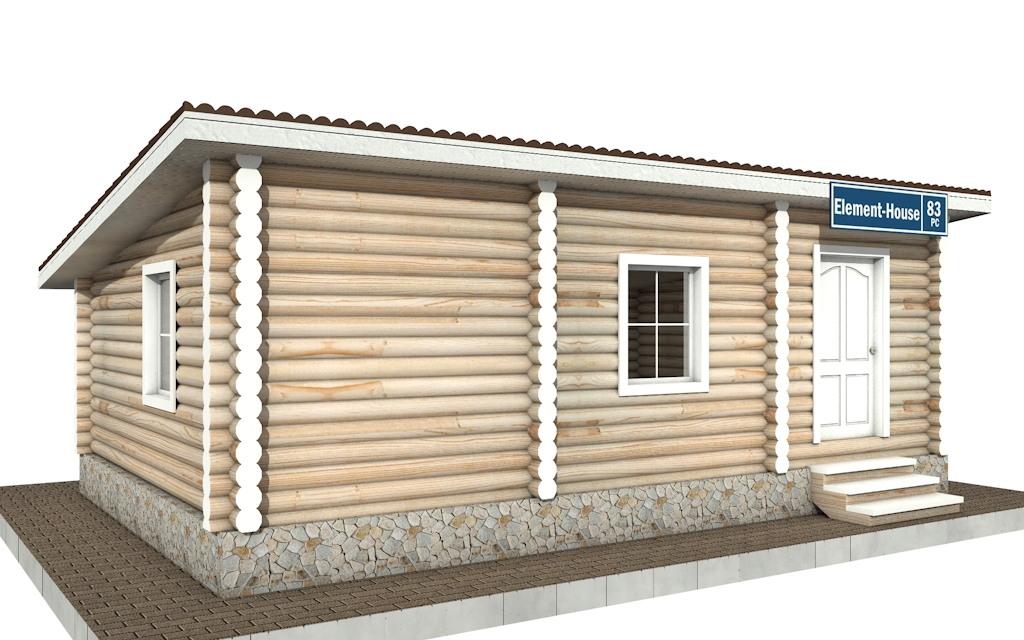 Фото #3: Красивый деревянный дом РС-83 из бревна