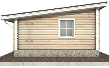Фото #8: Красивый деревянный дом РС-83 из бревна