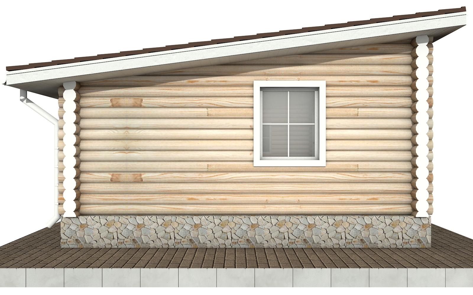 Фото #6: Красивый деревянный дом РС-83 из бревна