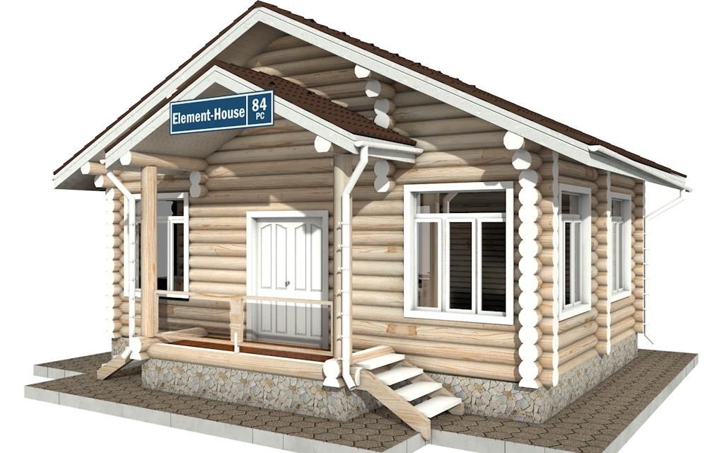 Фото #3: Красивый деревянный дом РС-84 из бревна