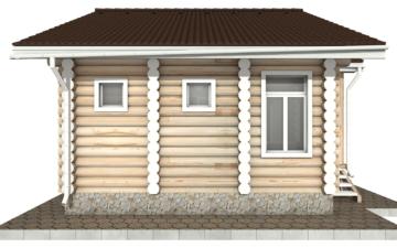 Фото #8: Красивый деревянный дом РС-84 из бревна