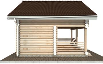Фото #8: Красивый деревянный дом РС-85 из бревна