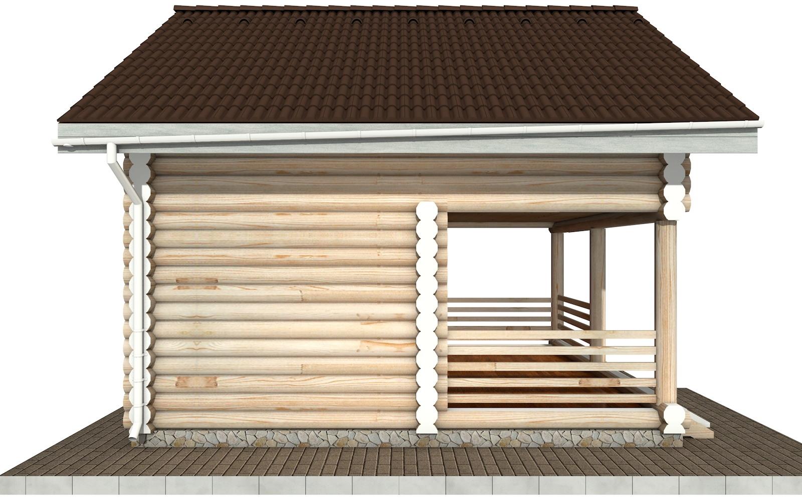 Фото #7: Красивый деревянный дом РС-85 из бревна