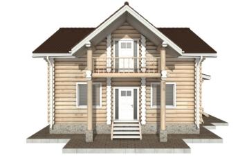 Фото #8: Красивый деревянный дом РС-86 из бревна