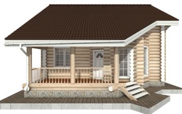 Фото #8: Красивый деревянный дом РС-87 из бревна