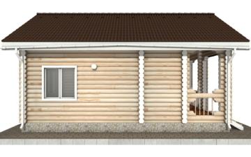 Фото #8: Красивый деревянный дом РС-88 из бревна