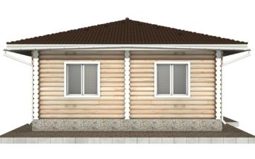 Фото #8: Красивый деревянный дом РС-89 из бревна
