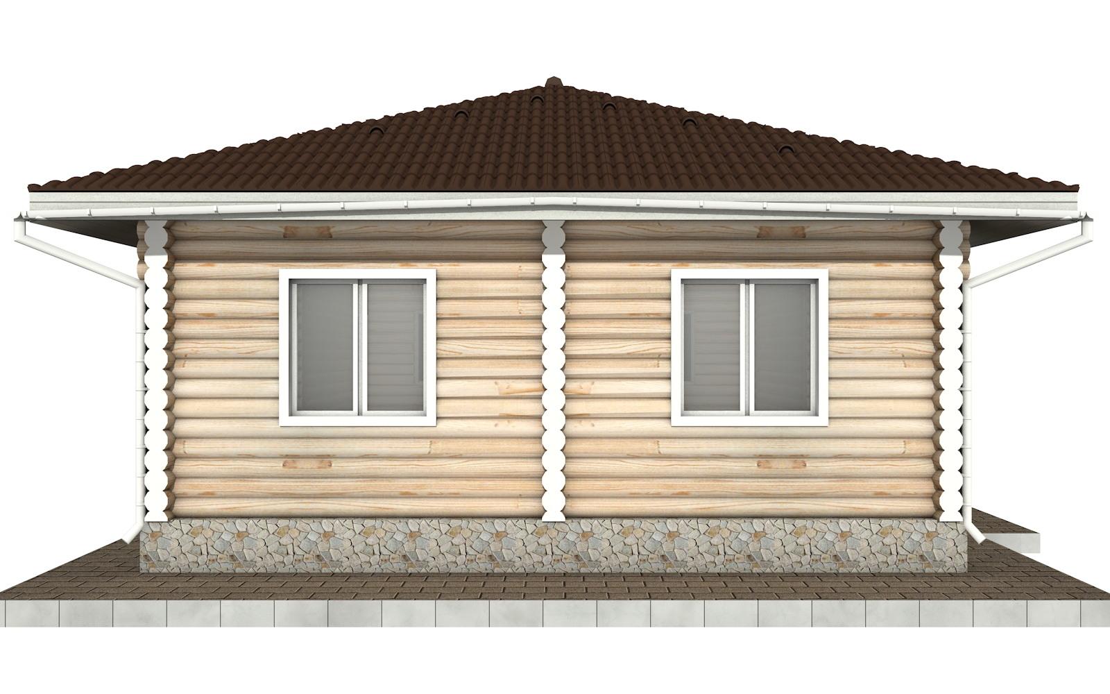 Фото #6: Красивый деревянный дом РС-89 из бревна