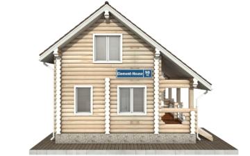 Фото #8: Красивый деревянный дом РС-90 из бревна