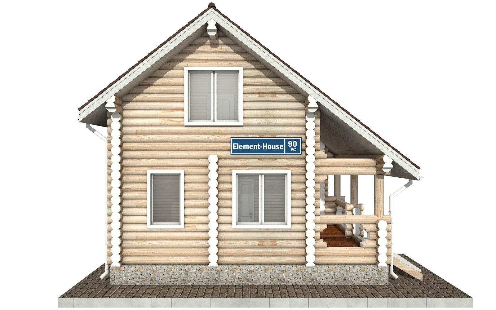Фото #7: Красивый деревянный дом РС-90 из бревна