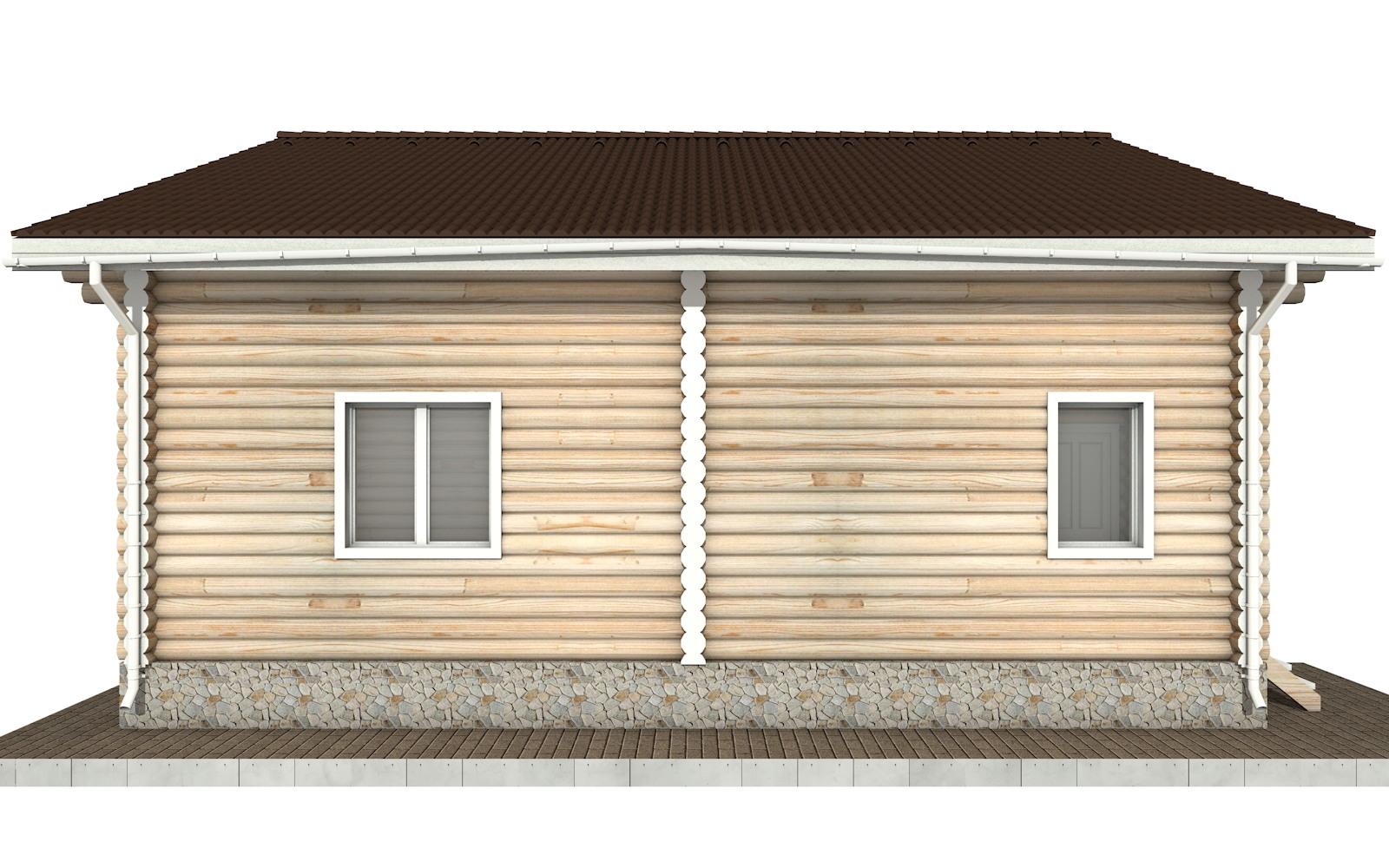 Фото #7: Красивый деревянный дом РС-91 из бревна