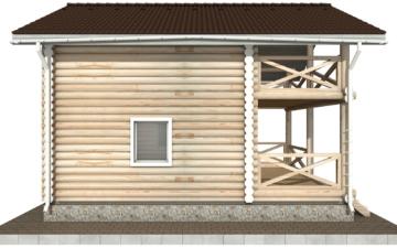 Фото #8: Красивый деревянный дом РС-92 из бревна