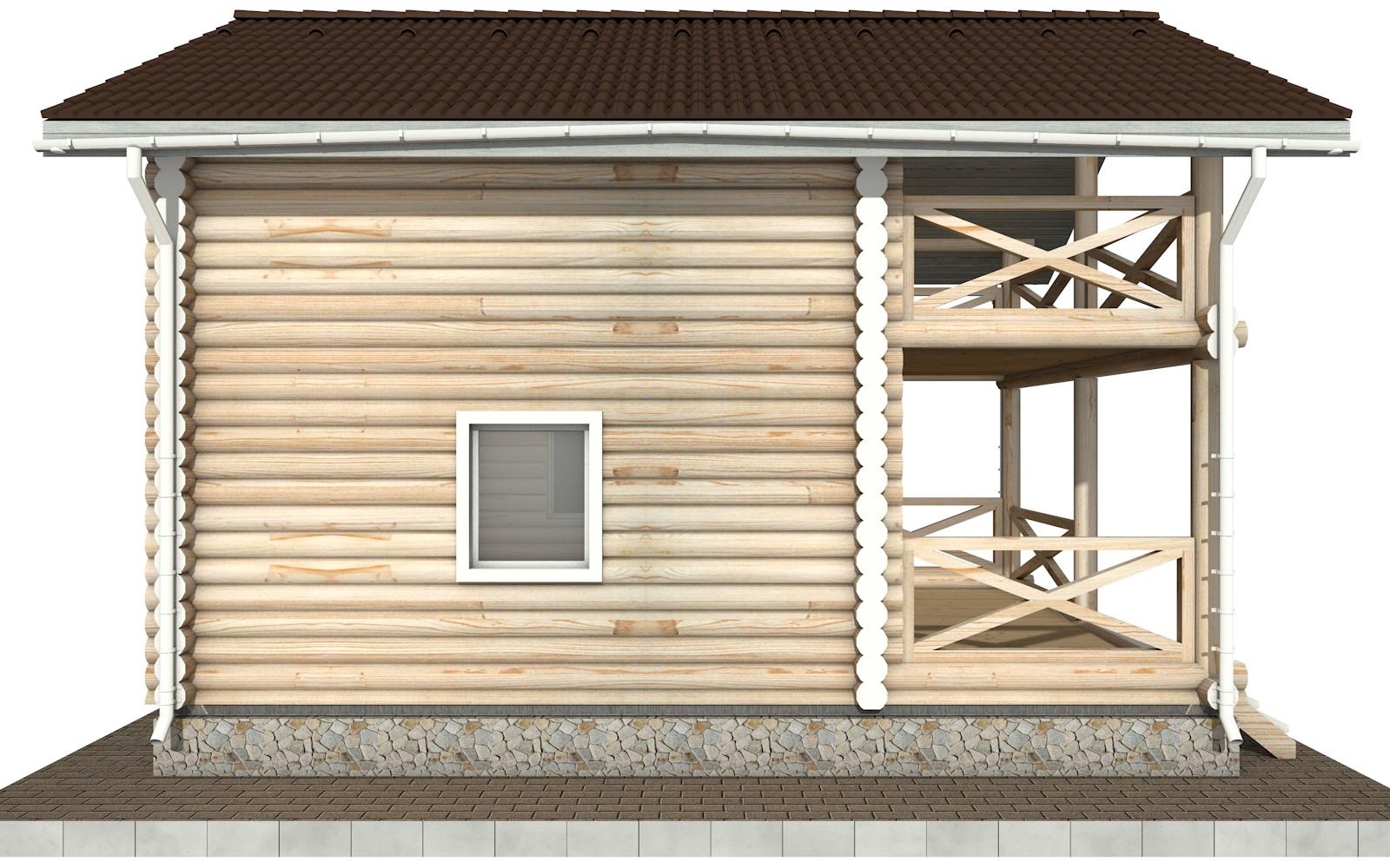 Фото #7: Красивый деревянный дом РС-92 из бревна