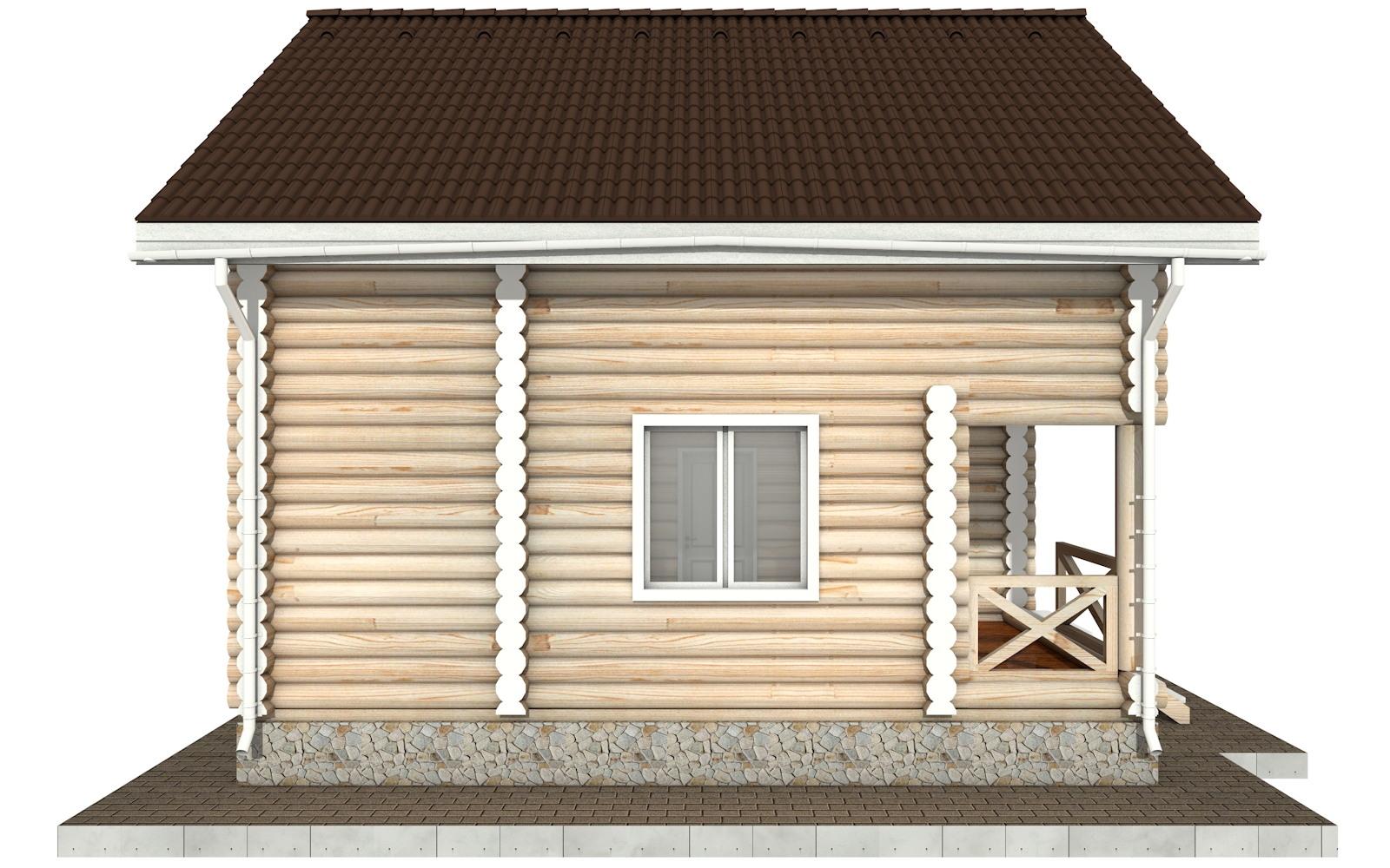 Фото #7: Красивый деревянный дом РС-93 из бревна