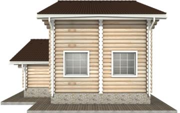 Фото #8: Красивый деревянный дом РС-1 из бревна